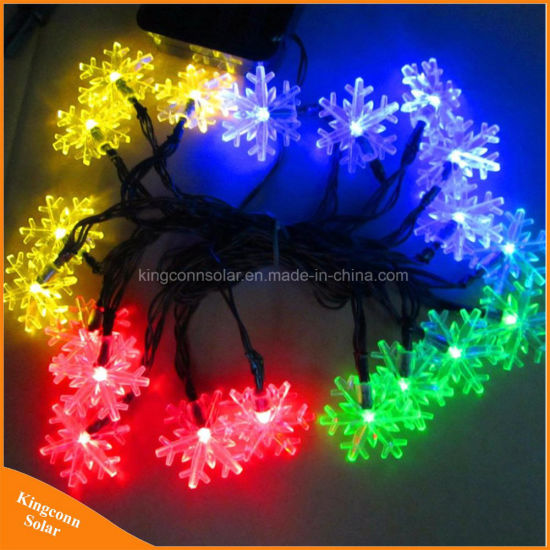 China colorful snowflake solar powered strings lights for outdoor colorful snowflake solar powered strings lights for outdoor holiday tree aloadofball Choice Image