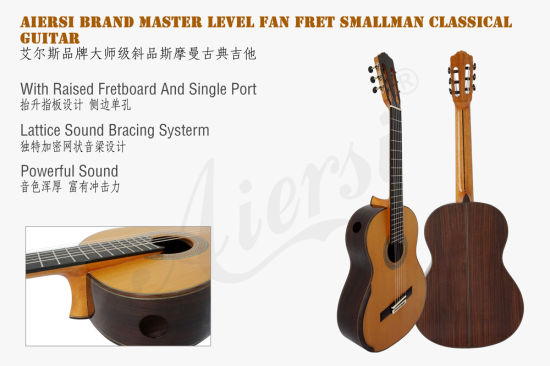 Aiersi Factory Fan Fret Smallman Classical Guitar (SC098SPFFF) pictures & photos