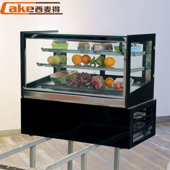 Normal Temperature Cake Showcase/Curved Glass Cake Display Cabinet Refrigeration Equipment