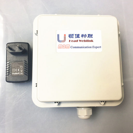 4G Lte Wireless Outdoor CPE with Poe Supply with High Gain Dual 4G Antenna