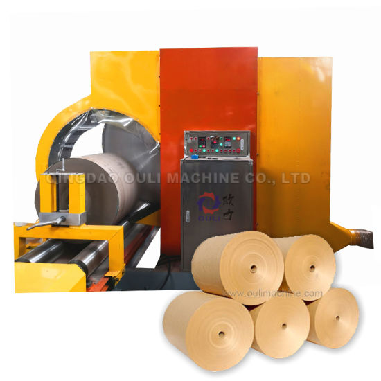 Saw Blade Cutter Machine for Paper Rollers, Corrugated Paper Rolls Slitting Machine with Band Saw