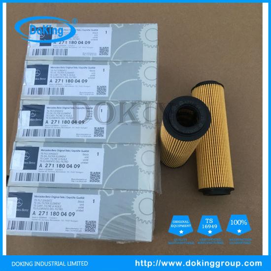 Made in China New Type Paper Oil Filter Car Oil Strainer A271 180 04 09 for Germany
