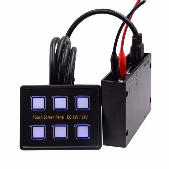 Auto Car Boat Rocker Switch Panel Ultra Slim Touch Screen
