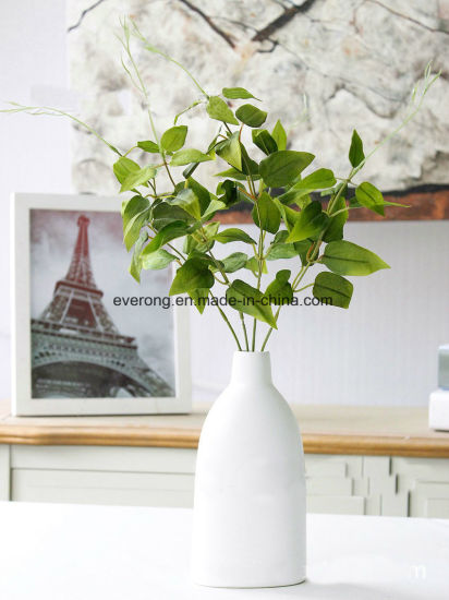 china 5 braches flower artificial plant leaves silk acacia green