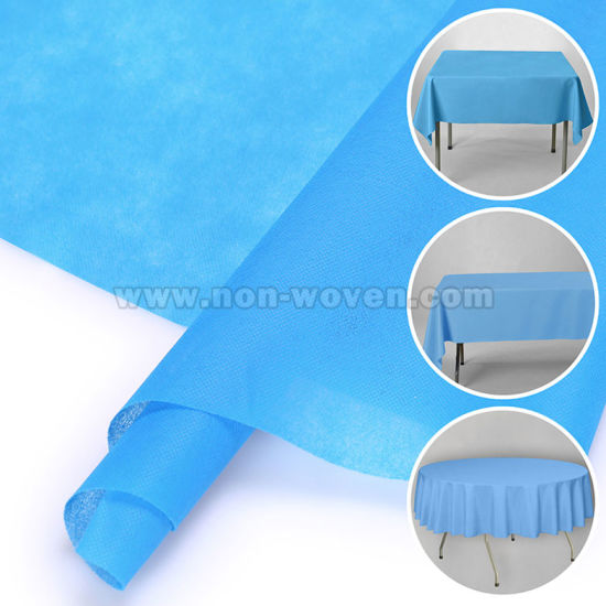 PP Spunbond Nonwoven Tablecloth 2# Sky Blue
