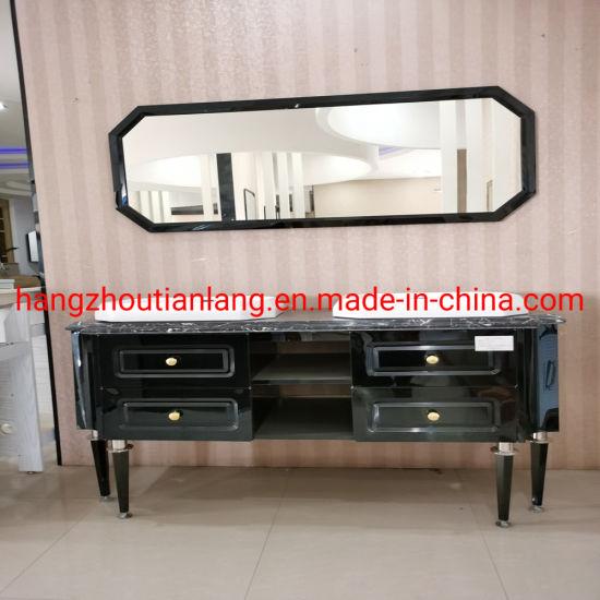 Double Basin Stainless Steel Luxury Hotel Furniture Bathroom Vanities Cabinets