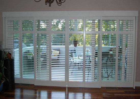 Decorative Vinyl PVC Sliding Plantation Shutters