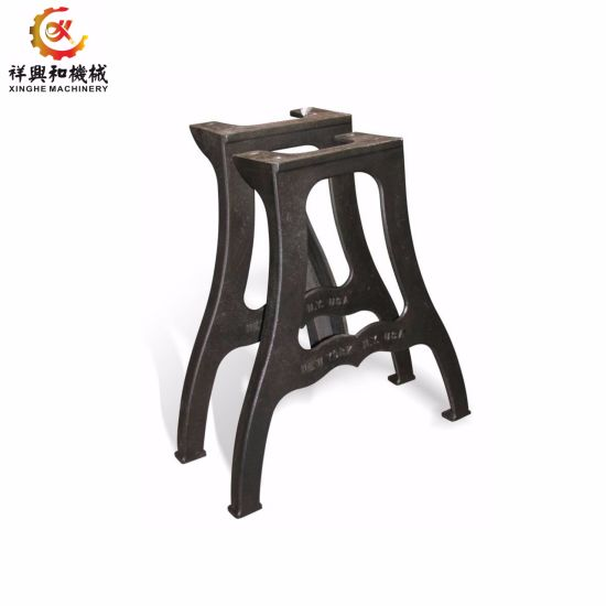 China Oem Sand Casting Outdoor Furniture Table Legs Cast Iron Leg