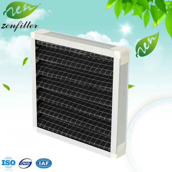 Aluminum Frame Activated Carbon Waved Air Filter
