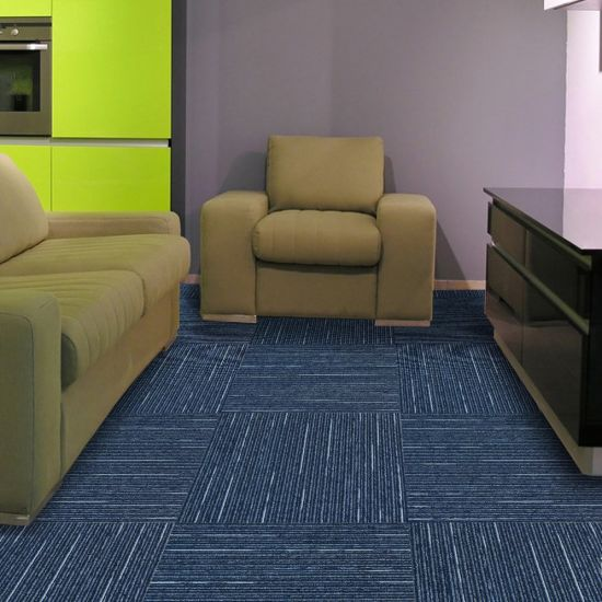 Rain-1/10 Machine Gauge PP Material Office Carpet Tile with Eco-Bitumen Backing pictures & photos