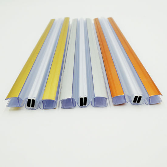PVC Seal Strip Colorful Magnetic Weather Seal Strip For Shower Door
