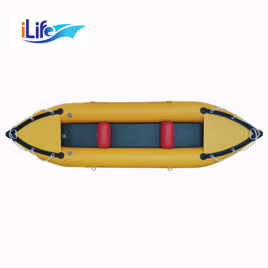 Ilife PVC Drop Stitch Inflatable Pedal 1-2 Person Fishing Whitewater Kayaks Self Bailing I-Beam Floor
