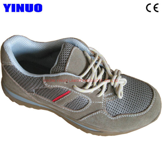 Men's Trekking Shoes Genuine Leather Steel Toe Safety Work Shoe