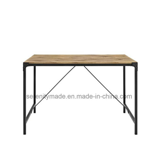 Wholesale Cafe Metal Frame Wooden Top Table Restaurant And Coffee Table