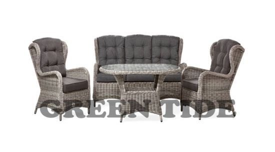 Enjoyable China Outdoor Garden Furniture Deluxe High Back 3 Seat Round Caraccident5 Cool Chair Designs And Ideas Caraccident5Info