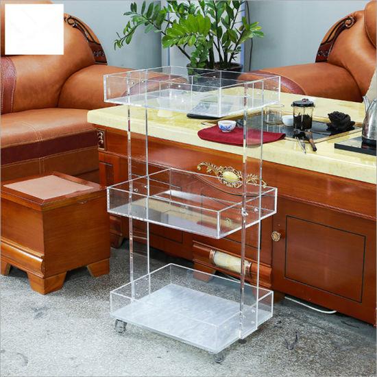 Acrylic Wood Display Shelf Rack for Cosmetic Display Stand
