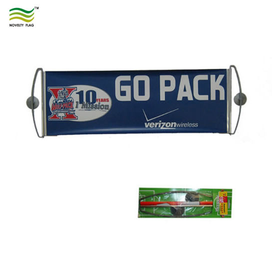 Retractable Custom Hand Roller Banner Double Sided Scrolling Banner pictures & photos