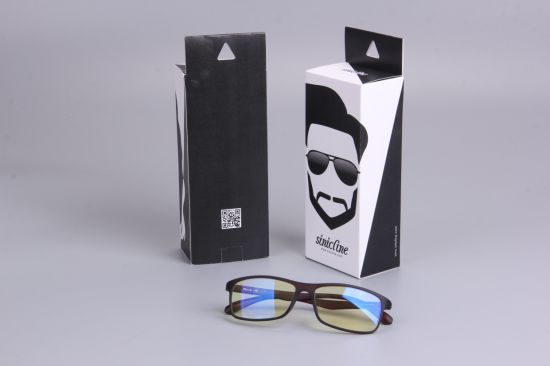 Sinicline Paper Packaging Box Sunglasses Paper Box with Logo Printing