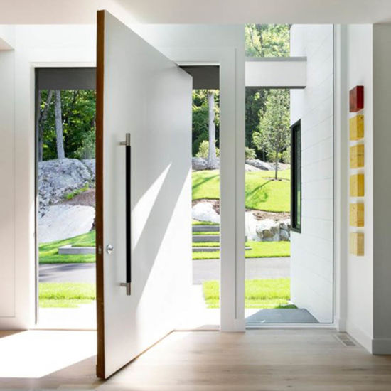 China Modern Design Residential Main Entry Door Pivot Wood Doors
