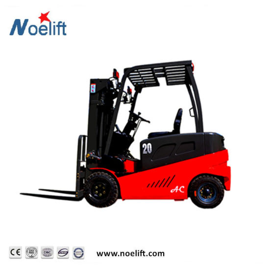 Electric Forklift Truck 3ton Four Wheel Battery Forklifts with Forklift Tire Solid