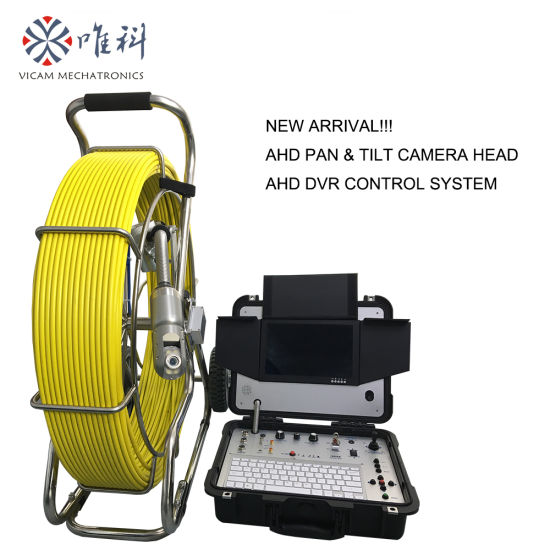 Waterproof Pan Tilt Camera of Sewer Drain Pipe Inspection