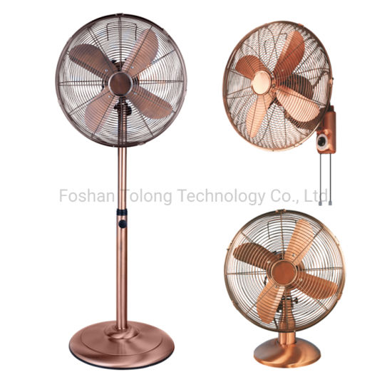 Electric Air Cooling Heavy Duty Pedestal Chrome 16inch Metal Industrial Stand Fan