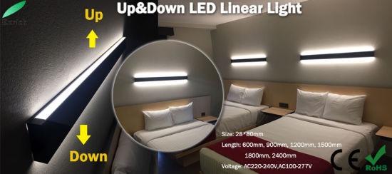 Double Sides Emitting up and Down LED Linear Lighting for Bedroom pictures & photos