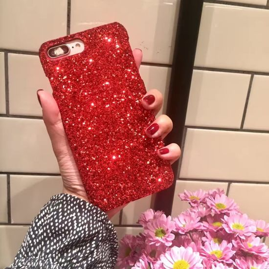 PC Hard Phone Back Cover Bling Glitter Powder Case