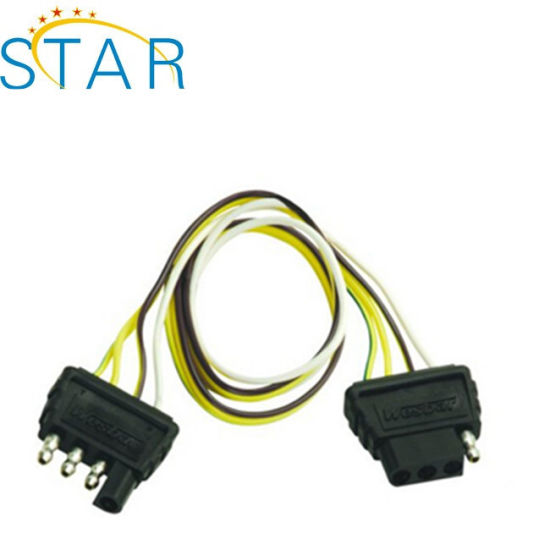 China Trailer Wiring Harness with 4-Flat Connector - China 4 ... on trailer hitch connector, trailer with electric brakes wiring-diagram, trailer brakes connector, trailer wiring fuse box, trailer lights connector, trailer spring connector, trailer light wiring, dodge trailer wiring connector, cable connector,