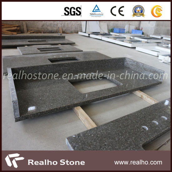Wholesale Polished Artificial Grey Quartz Countertops for Project