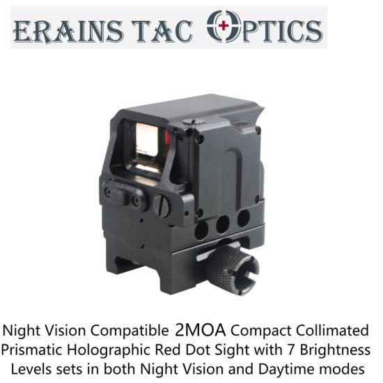 Night Vision Compatible FC1 Tactical 2moa Hunting Compact Collimated Prismatic Holographic Red DOT Sight