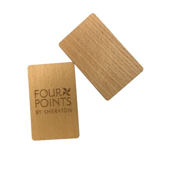Unique Wooden Material Cr80 Bamboo Maple Business Card with Laser Printing
