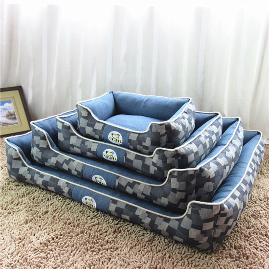 High Quality Customized PP Cotton Filling Puppy Kitten Sleeping Sofa Bed