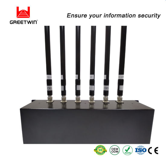 Eight Band 80 W 4G Military Using Adjustable Power Cell Phone Jammer