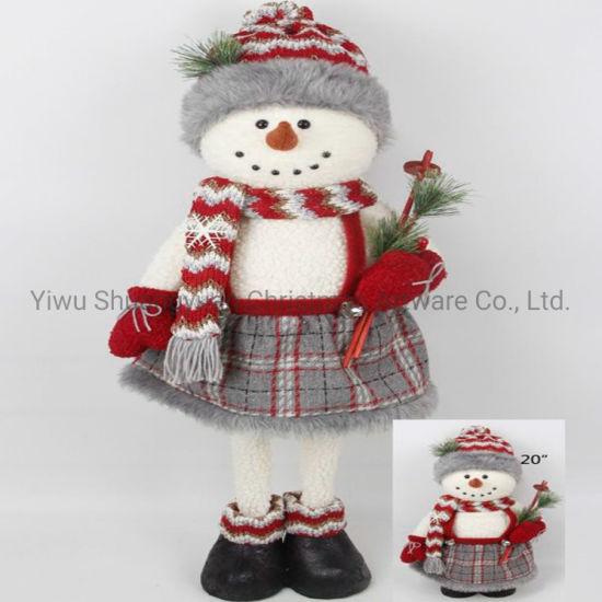 Christmas Snowman for Holiday Wedding Party Decoration Supplies Hook Ornament Craft Gifts
