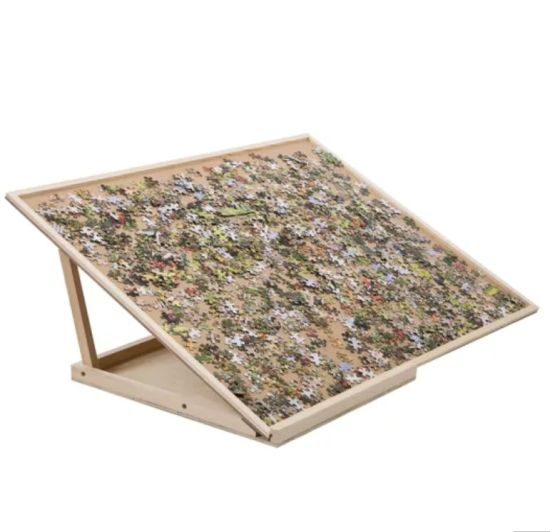 Foldable Puzzle Board & Bracket Set/Wooden Puzzle Board Kit/Jigsaw Puzzle Plateau