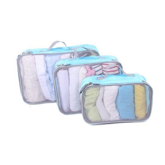 Travel Accessories Laundry Pouch 6PCS Set Compression Travel Packing Cubes Bag