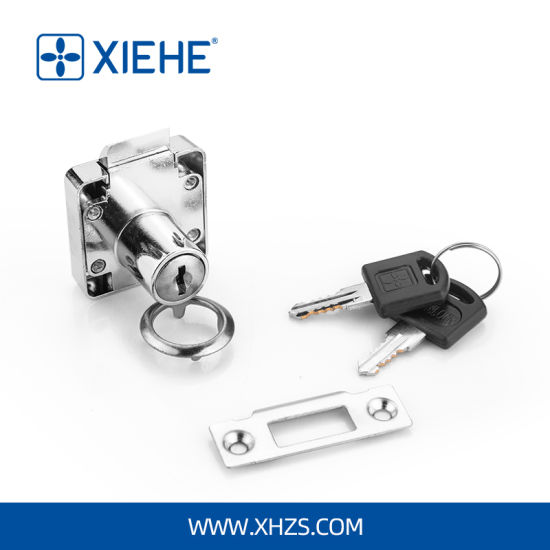 High Quality Zinc Alloy Drawer Lock for Furniture Desk Drawer or Cabinet Door with Automatic Spring Latch