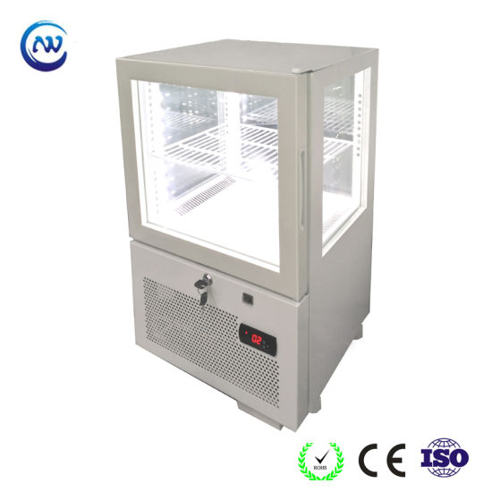 Table Top 4 Side Glass Display Chiller with Ce RoHS Yy-41f