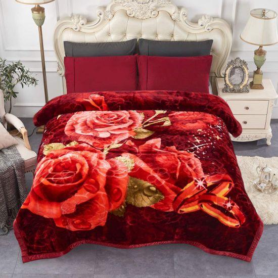 Heavy Fleece Blanket, Plush Velvet Korean Style Mink Blanket Fade Resistant Thick