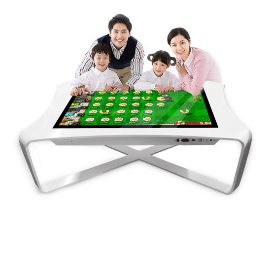 """Aiyos 42"""" 43"""" Black White Color Android Windows OS Interactive Smart Touch Screen Game Table"""