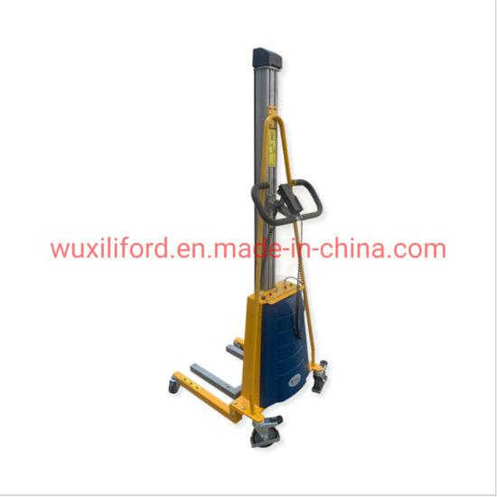E100 E150 Semi Electric Stacker Work Positioner Light Electric Stacker