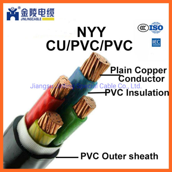 Nyy 0.6/1kv Low Voltage PVC Insulated Power Supply Cable