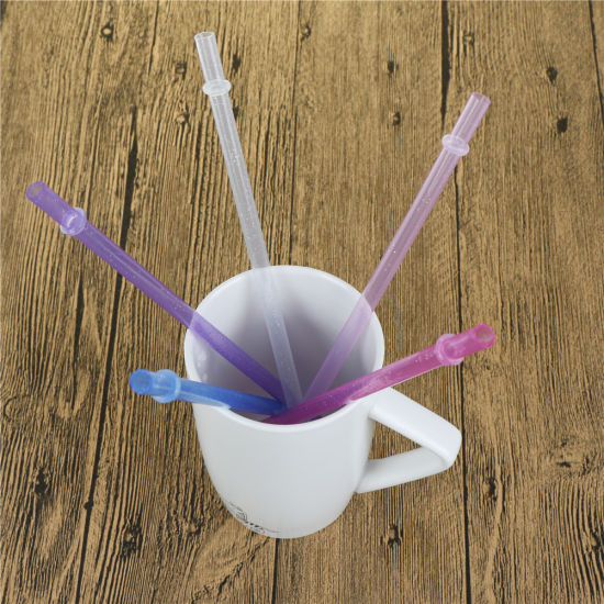 25pcs Hard Plastic Drinking Colorful Straw Drinking Decoration Party Reusable