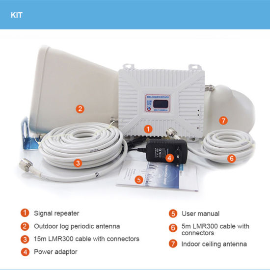 Mobile GSM 3G 4G Repeater Cell Phone Signal Booster Wireless Amplifier
