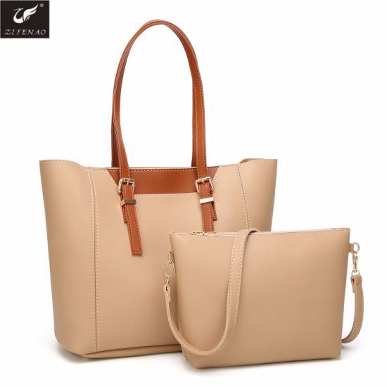 808bc9f4d4 China Wholesale Fashion Simple Design Ladies PU Handbag Tote Bag ...
