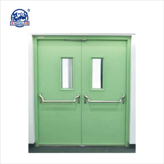 China 15 Hrs Double Steel Fire Rated Steel Doors With Ce
