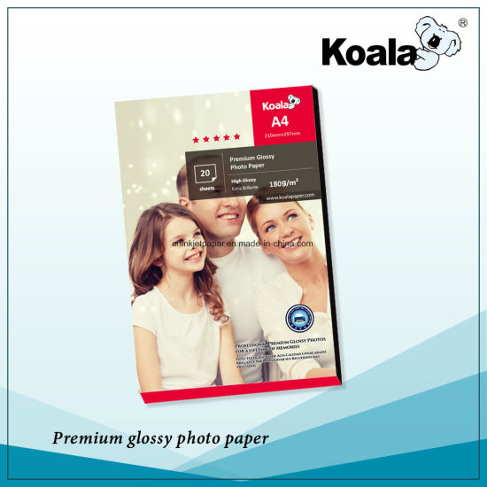 180GSM High Glossy Inkjet Photo Paper pictures & photos