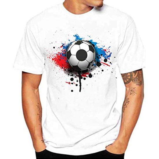 0eab7214a13 Mens World Cup Soccer Football Printed White Tee Shirt - China Men T Shirt