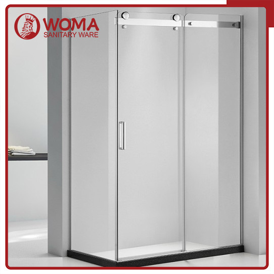 Woma Simple Bathroom Glass Door Shower Cabin with Aluminum (Y684)